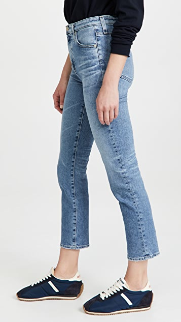 AG Isabelle Straight Crop Jeans