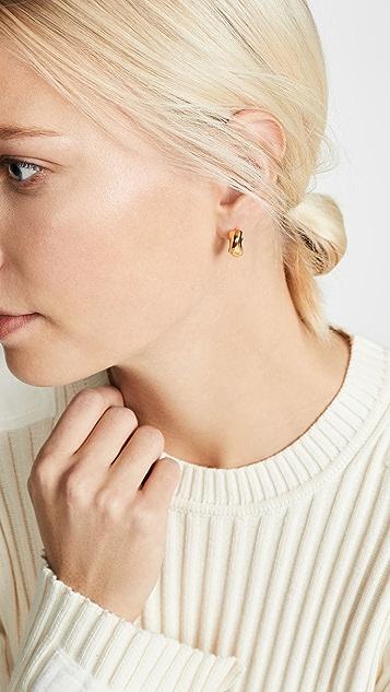 AGMES Small Dahlia 圈式耳环