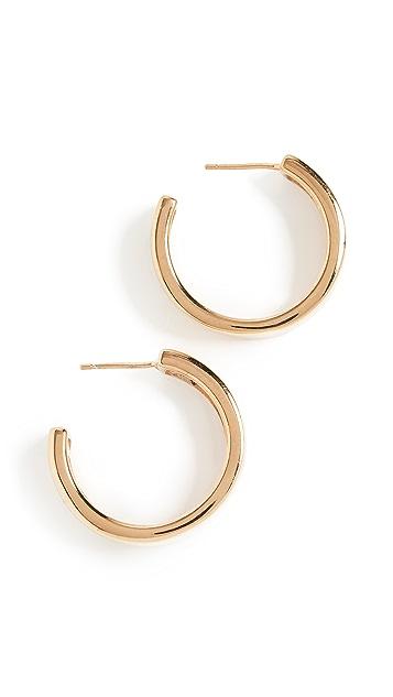AGMES 中号现代主义圈式耳环