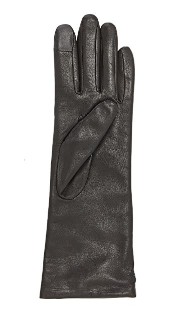 Agnelle Christina Leather Texting Gloves