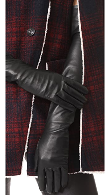 Agnelle Glamour Leather Opera Gloves