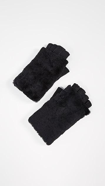 Agnelle Bella Shearling Fingerless Gloves