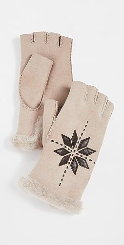 Agnelle - Flocon Fingerless Gloves