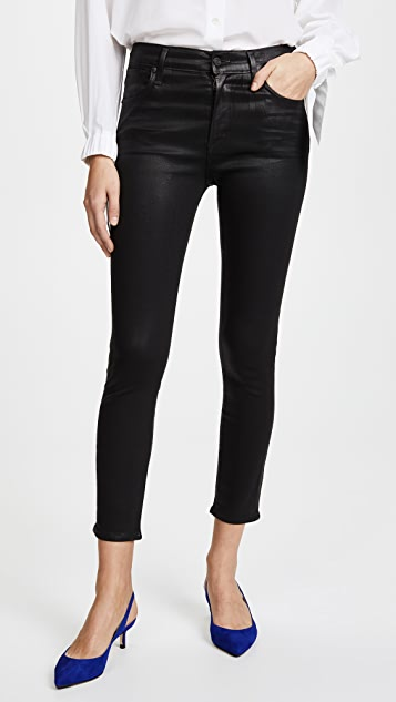 Sophie Crop High Rise Skinny Jean. - size 24 (also in 23,25,26,27,28,29,30) A Gold E