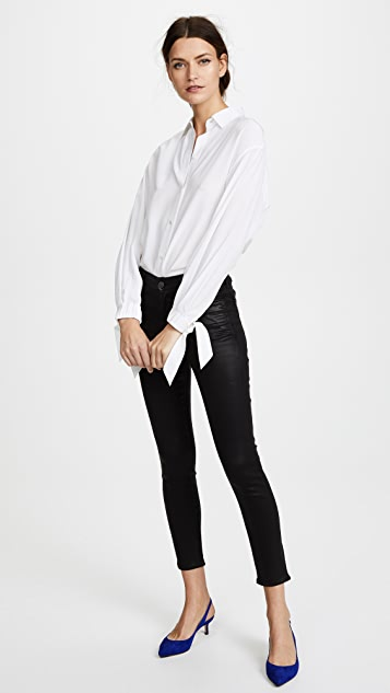AGOLDE Sophie 高腰紧身九分涂层牛仔裤
