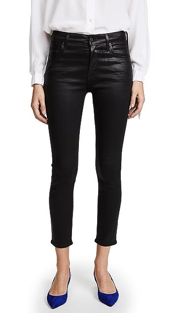 AGOLDE Sophie Hi Rise Skinny Crop Coated Jeans