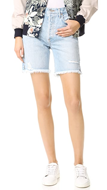 AGOLDE Jamie High Rise Classic Girlfriend Shorts