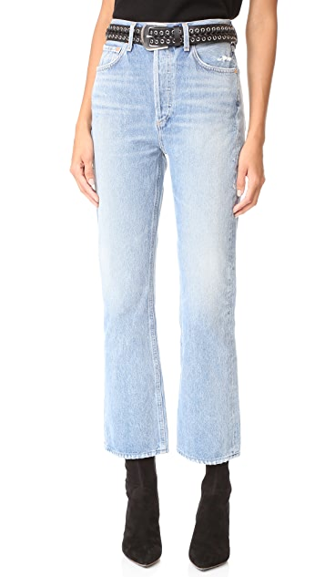 AGOLDE Taylor High Rise Crop Kick Flare Jeans