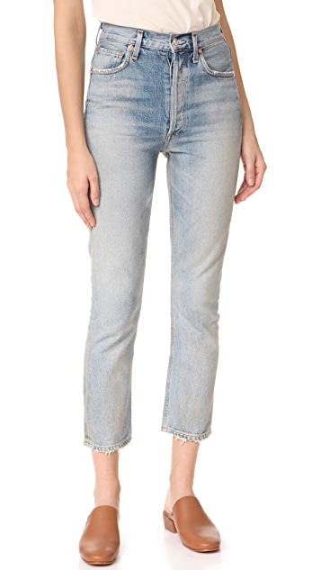 AGOLDE Riley High Rise Straight Crop Jeans ...