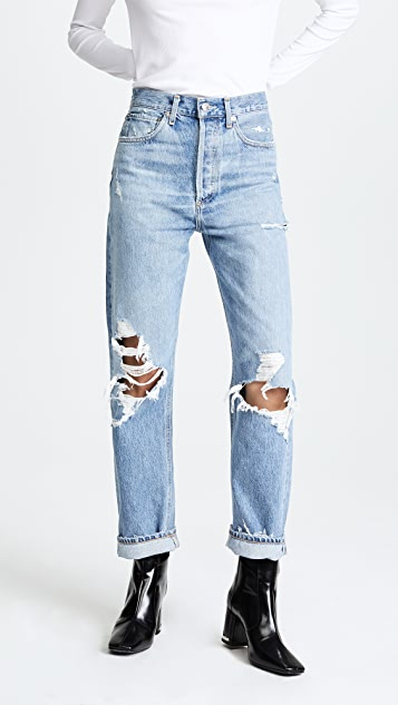 90s Fit Mid Rise Loose Fit Jeans
