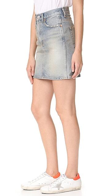 AGOLDE Kat High Rise Pencil Mini Skirt