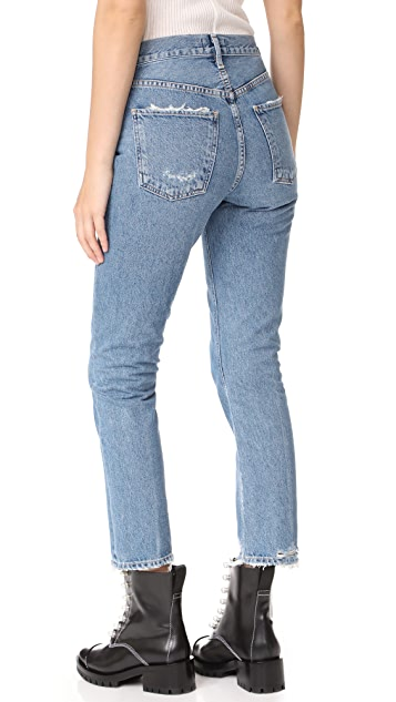 AGOLDE Cigarette Low Slung Straight Leg Jeans
