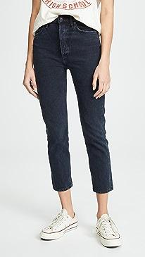 Riley High Rise Slim Crop Jeans