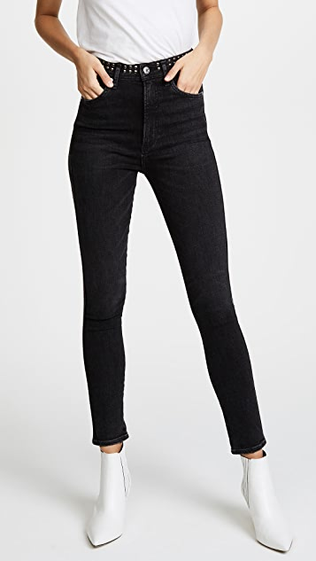 AGOLDE Roxanne Studded Skinny Jeans
