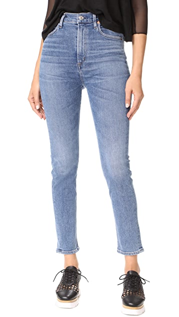 AGOLDE Ruby Super High Straight Crop Jeans