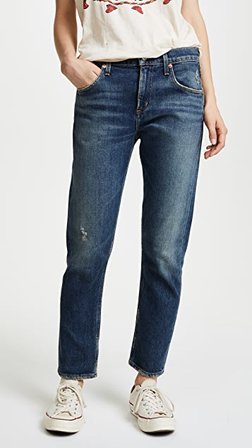 AGOLDE The Isabel Mid Rise Slim Straight Jeans