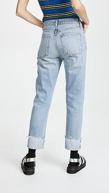 AGOLDE Cherie High Rise Cuffed Jeans