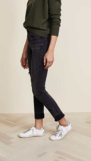 AGOLDE Ruby High Straight Crop Jeans