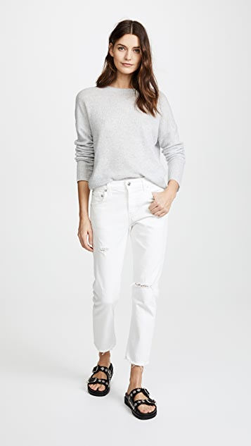 AGOLDE The Isabel Mid-Rise Slim Straight Jeans