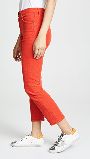 AGOLDE Riley Corduroy High Rise Straight Crop Jeans