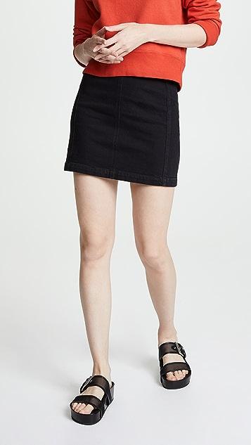 AGOLDE Aimee Zip Skirt