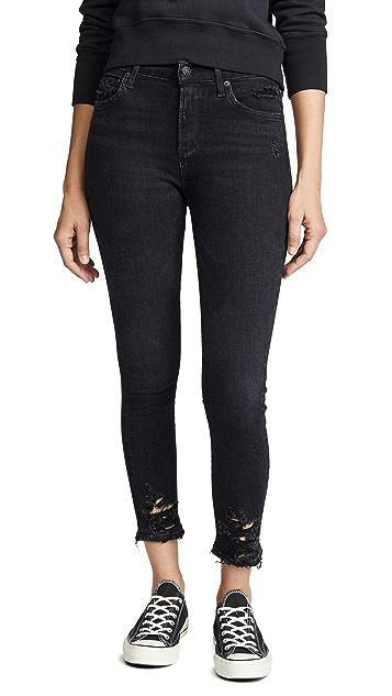 AGOLDE Укороченные джинсы-скинни Sophie с высокой посадкой