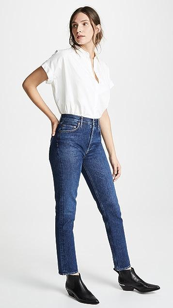 AGOLDE Прямые джинсы Remy с высокой посадкой