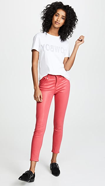 AGOLDE Sophie High Rise Skinny Crop Leatherette Jeans