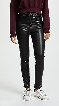 Roxanne Leatherette Skinny Jeans