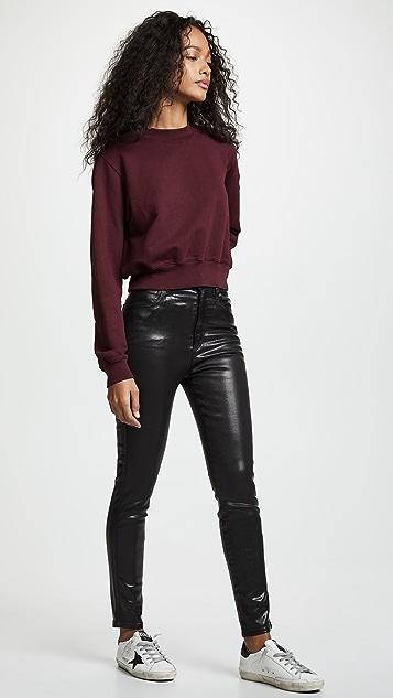 AGOLDE Roxanne Leatherette Skinny Jeans