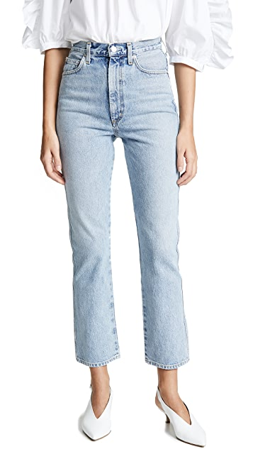 AGOLDE High Rise Kick Pinch Waist Jeans