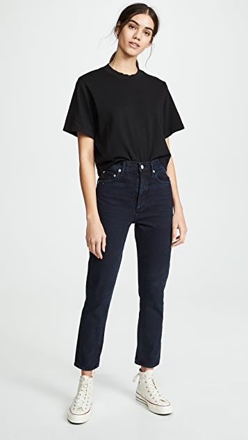 AGOLDE Straight Riley Crop Jeans