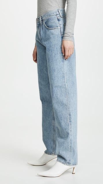 AGOLDE Baggy Oversized Jeans with Pleats