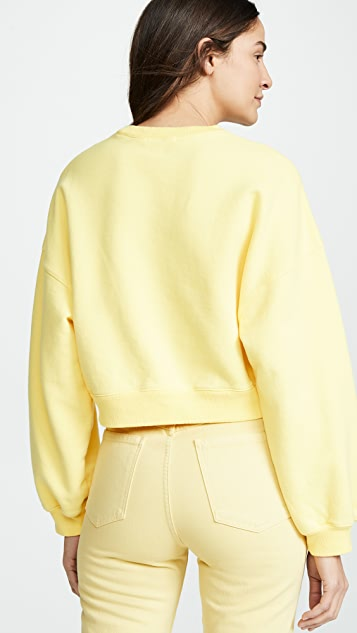 AGOLDE Balloon Sleeve Cropped Sweatshirt