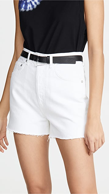 AGOLDE Ultra Hi Rise Close Fit Dee Shorts - Oyster