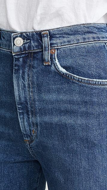 AGOLDE 舒适弹性束腰牛仔裤