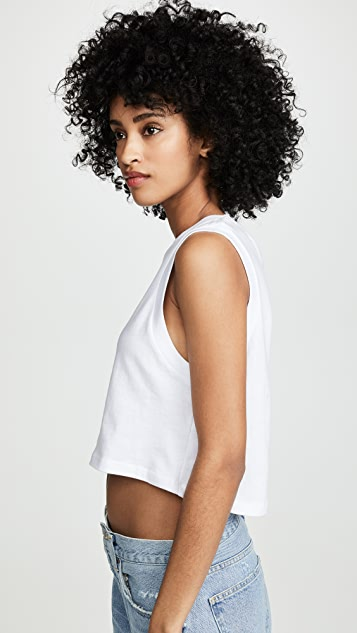 AGOLDE Укороченная футболка без рукавов