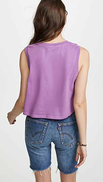 AGOLDE Cropped Muscle Tee