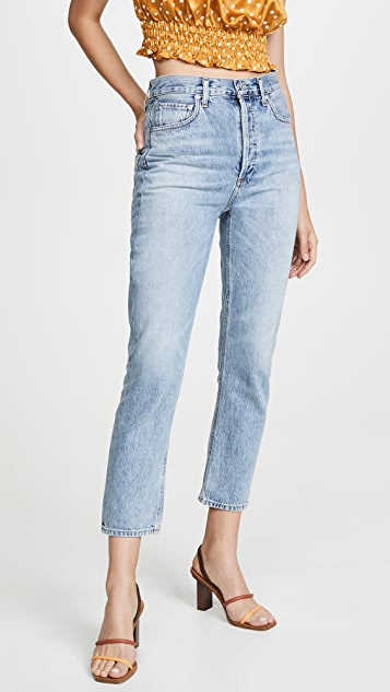 Double Pocket Riley High Rise Cropped Jeans by Agolde