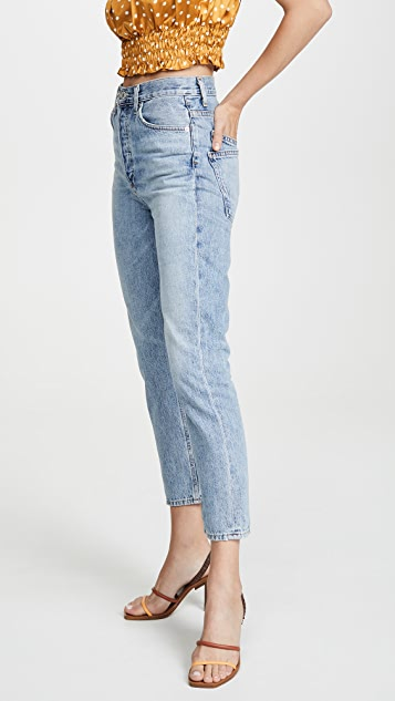 AGOLDE Double Pocket Riley High Rise Cropped Jeans