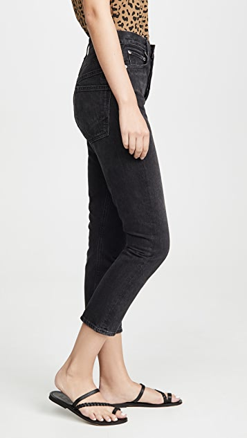 AGOLDE Double Pocket Riley Hi Rise Crop Jeans