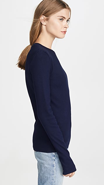 AGOLDE Long Sleeve Rib Tee