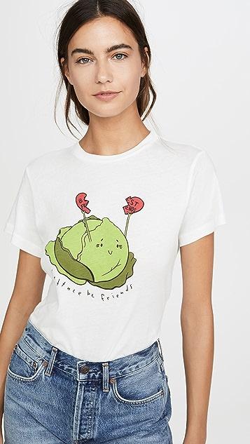 AGOLDE Lettuce Be Friends Baby Tee