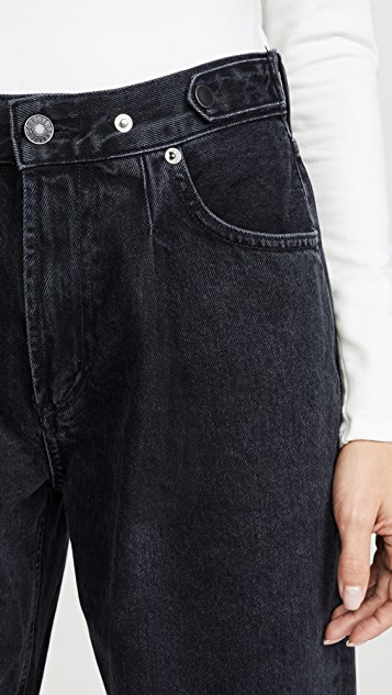 AGOLDE Pleated Baggy Mid Rise Jeans