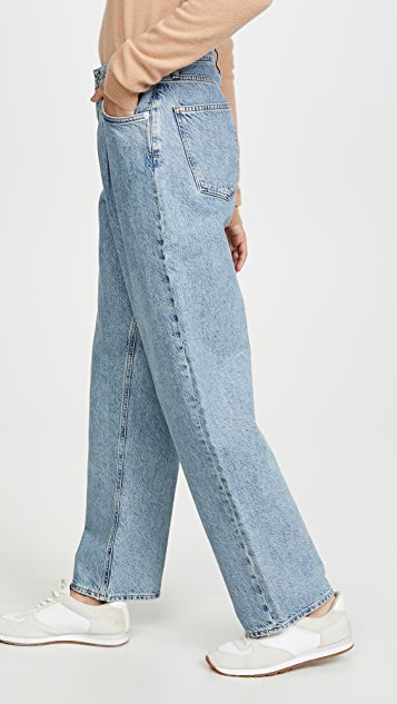 AGOLDE Mid Rise Pleated Baggy Jeans
