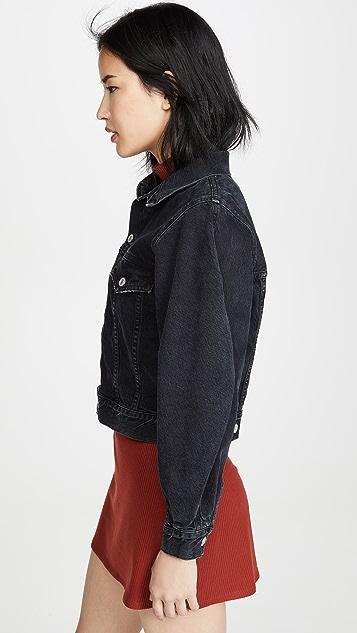 AGOLDE Пиджак из денима Alik с объемными рукавами
