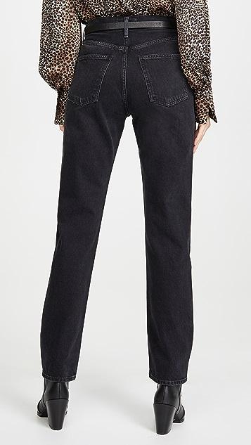 AGOLDE Прямые джинсы Lana со средней посадкой