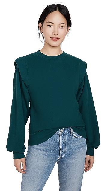 AGOLDE 80'S Pleated Shoulder Sweatshirt
