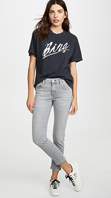 AGOLDE Toni Mid Rise Straight Jeans