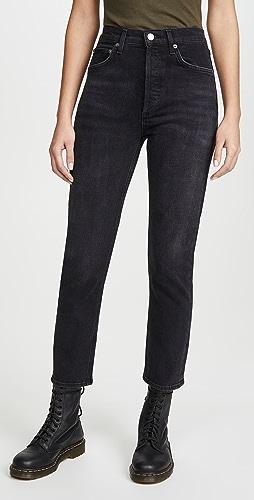 AGOLDE - Riley 高腰直脚九分牛仔裤